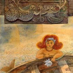 Русалка. Иллюстрация Ларисы Рябининой