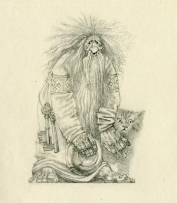 Домовой. Иллюстрация Романа Писарева