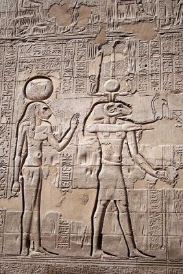 Менхит и Хнум. Барельеф на внешней стене храма в Эсне