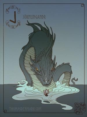 Ёрмунганд. Иллюстрация Томаса Денмарка