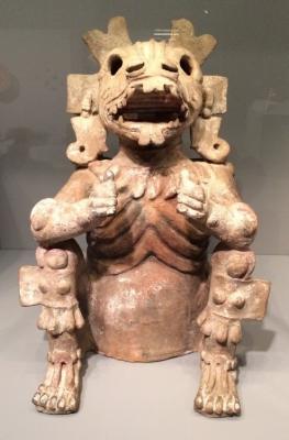 Шолотль. Керамический сосуд для благовоний. Мексика, XIII-XV века