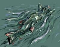 Русал-водяной-тритон. Иллюстрация Антона Батова