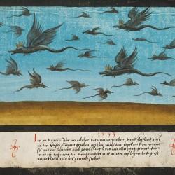 """Летающие драконы из """"Книги чудес"""" (1550 год)"""