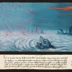 """Кит из """"Книги чудес"""" (1550 год)"""