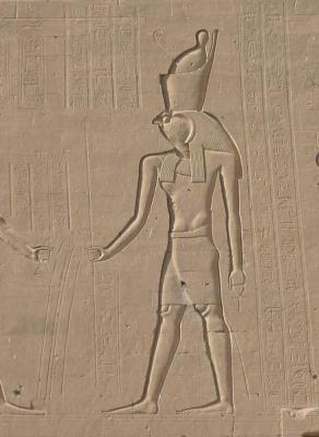 Бог Гор. Барельф храма в Эдфу