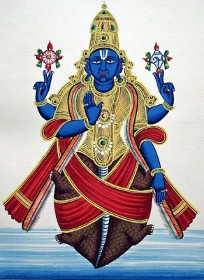 Курма — вторая аватара Вишну. Рисунок 1850 года