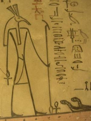 Изображения бога Сета. Гробница фараона Тутмоса III