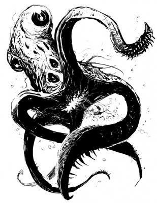 Кракен. Иллюстрация Скотта Парди (Scott Purdy)
