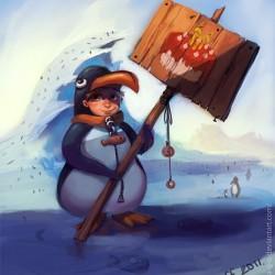 Подниматель пингвинов. Рисунок Екатерины Горелко (Kristoff)