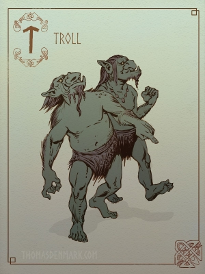 Тролли. Иллюстрация Томаса Денмарка
