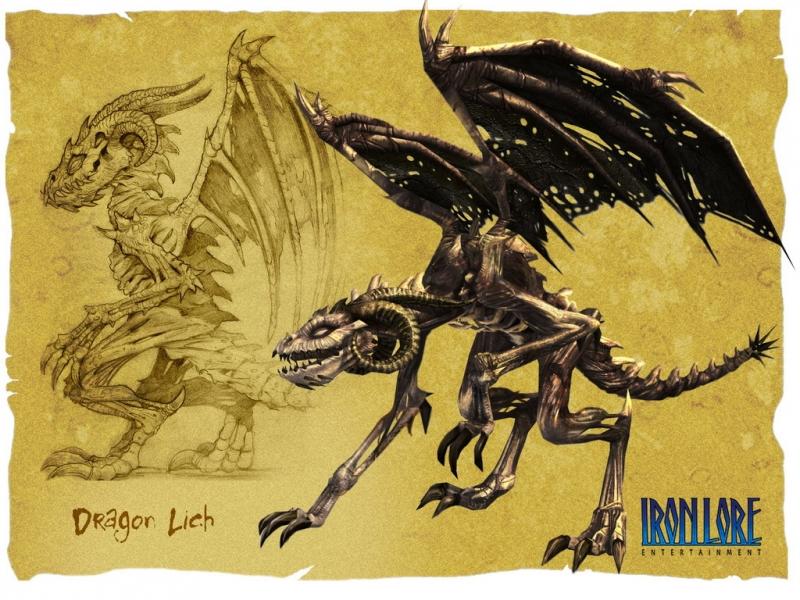 Дракон-лич из игры Titan Quest