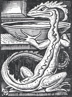 Молочный змей. Рисунок Мерчина Новак-Нехорньского