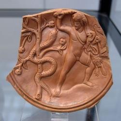 Геркулес и Ладон. Римское блюдо, поздний период
