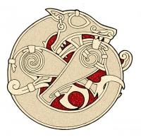 Фенрир. Современная стилизация скандинавского орнамента