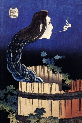 «История о призраке Окику». Автор гравюры Кацусика Хокусай