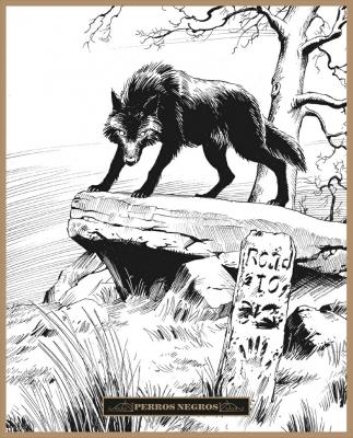Черный пёс. Иллюстрация Клаудио Санчеса Вивероса