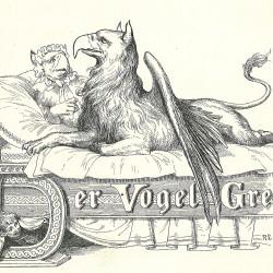 Der Vogel Grief. Иллюстрация к книге сказок братьев Гримм