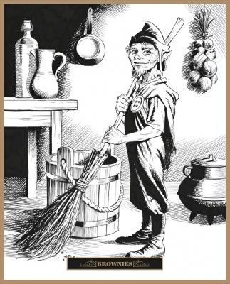 Брауни. Иллюстрация Клаудио Санчеса Вивероса