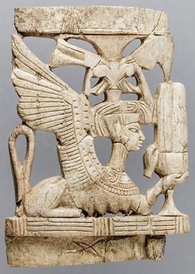 Скульптурное изображение сфинкса из Мегиддо, XII век до н.э.