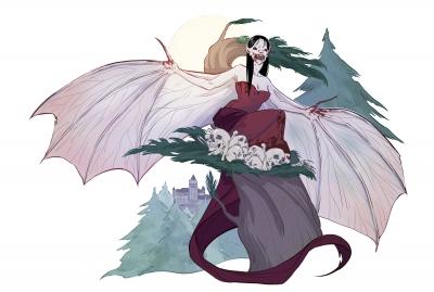 Вампир. Иллюстрация Александрии Хантингтон