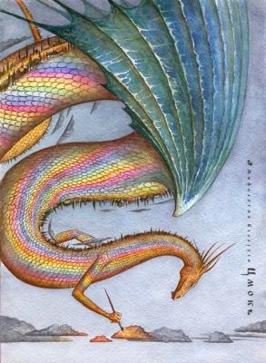 Цмок. Иллюстрация Юрия Подвербного (Irgik)