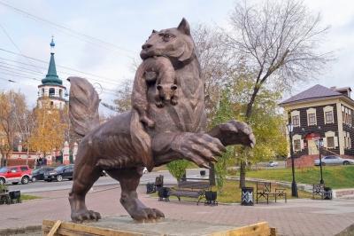 Иркутский Бабр. Скульптура Натальи Бакут