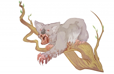 Дроп-беар. Иллюстрация Александрии Хантингтон