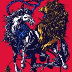 Интерпретация герба Великобритании от иллюстратора Ивана Беликова