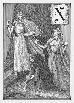 Норны. Иллюстрация Юлии Широниной (CoalRye)