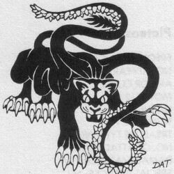 Displacer Beast. Иллюстрация Дэвида Трампьера из D&D Monstrous Manual'а 1977 года