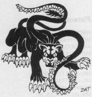 Displacer Beast. Иллюстрация Дэвида Трампьера из D&D Monstrous Manual'а 1977 года