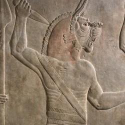 Угаллу. Профиль. Барельеф из Северного дворца Ашурбанипала в Ниневии