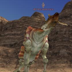 "Allocamelus. Скриншот из игры ""Final Fantasy XI"""
