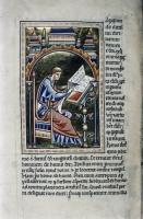Исидор Севильский за работой.Рукопись Бодлеянской библиотеки (MS Ashmole 1511, fol.095v.)