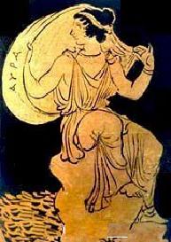 Аура. Афинская краснофигурная ваза, V век до нашей эры