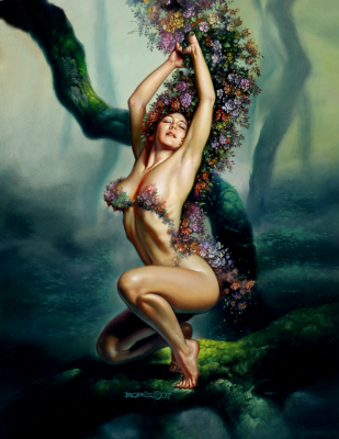 Богиня земли. Картина Бориса Валледжо (1997)