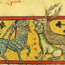 Пантера и звери. Рукопись Французской национальной библиотеки (Latin 3630, fol.75r.)