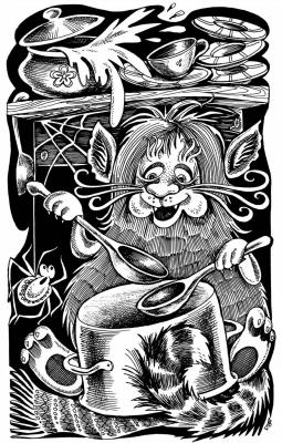 Барабашка. Рисунок Ольги Анциферовой