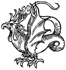 Василиск. Гравюра XVI века