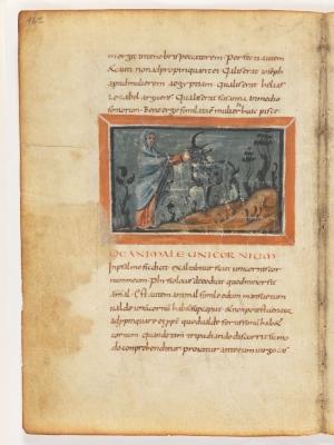 Дева и единорог. Рукопись Городской библиотеки Берна (Cod. 318, fol.16v)