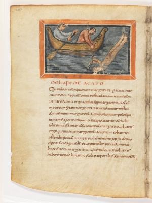 О камне агате. Рукопись Городской библиотеки Берна (Cod. 318, fol.20v)