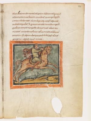 Лошадь. Рукопись Городской библиотеки Берна (Cod. 318, fol.22r)