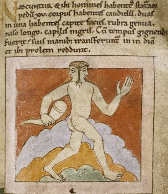 Люди с двумя лицами. Рукопись Бодлеянской библиотеки (MS. Bodley 614, fol. 040r.)