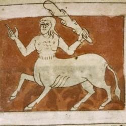 Хомодубии (онокентавры). Рукопись Бодлеянской библиотеки (MS. Bodley 614, fol. 042r.)