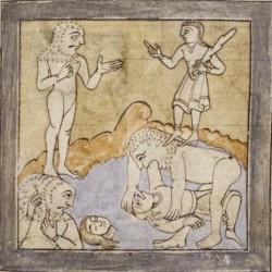 Донестры. Рукопись Бодлеянской библиотеки (MS. Bodley 614, fol. 043r.)
