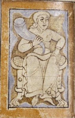 Люди с сияющими глазами. Рукопись Бодлеянской библиотеки (MS. Bodley 614, fol. 043v.)