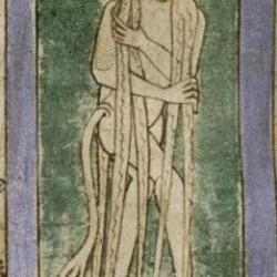 Хвостатые, волосатые женщины со страусиными ногами. Рукопись Бодлеянской библиотеки (MS. Bodley 614, fol. 045r.)