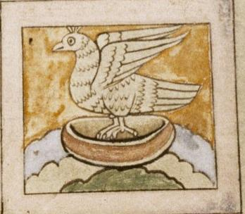 Феникс. Рукопись Бодлеянской библиотеки (MS. Bodley 614, fol. 047r.)