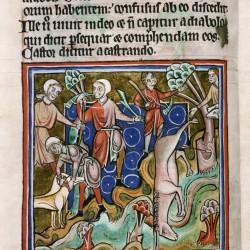 Охота на ибекса. (Рукопись Бодлеянской библиотеки. MS. Bodley 764, fol. 014v)