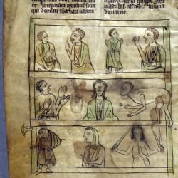 Чудовищные племена. Рукопись Бодлеянской библиотеки (MS. e. Mus. 136, fol.001v)